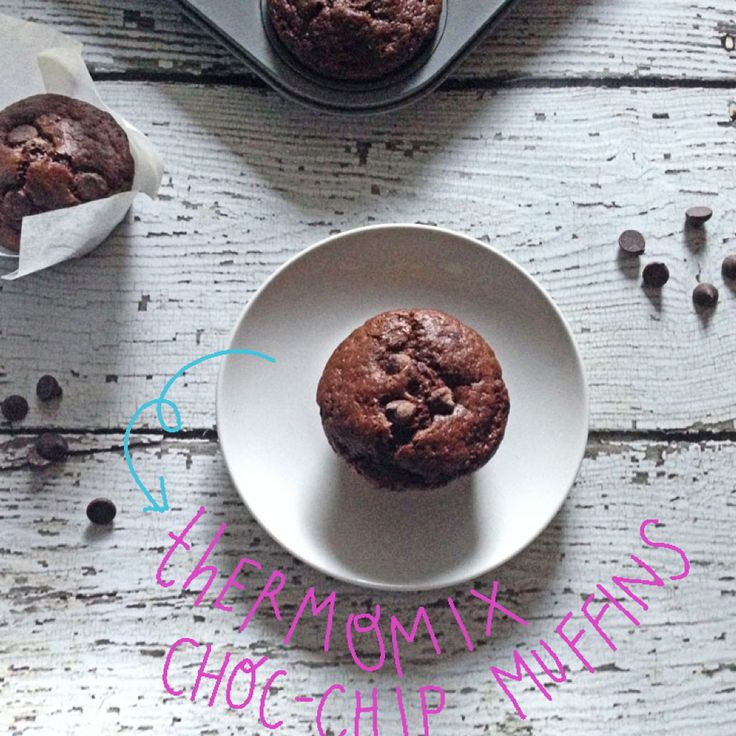Nigella Lawson's choc-chip muffins {Thermomix}