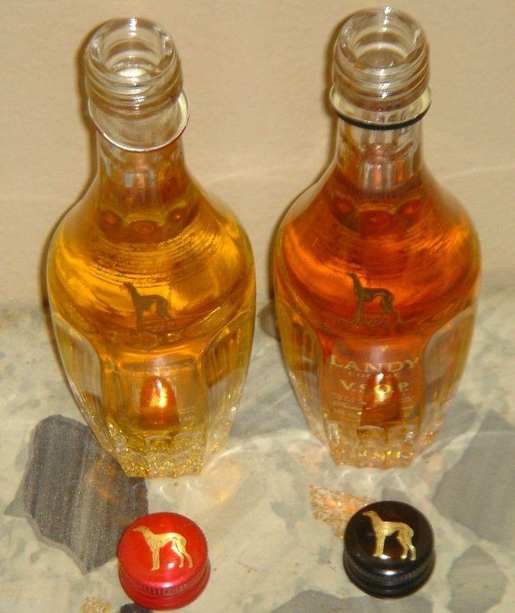 Landy Cognac VS & VSOP 2 Bottle 50 ML Collectable Mini Product France