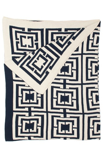 Ocean-inspired picks to beach-ify any home: Ties Scarves, Crafts Ideas, Cococozi Throw, Ties A Scarfs, Design Ideas, Cococozi Navy, Blankets, Logos Throw, Cococozi Logos