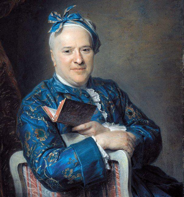 """.:. """"Pierre Louis Laideguive"""" di Quentin Maurice de La Tour (Francia 1704 - 1788). Pastello su carta colorata applicata su tela, 95 x 76 cm, 1761. Museu Nacional d'Art de Catalunya, Barcellona"""