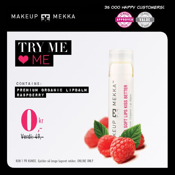 Premium Organic Lip Balm SPF15 Raspberry fra Makeupmekka. Om denne nettbutikken: http://nettbutikknytt.no/makeupmekka-no/