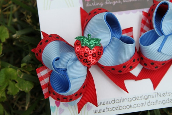 M2M Gymboree Burst of Spring Strawberry by DarlingLittleBowShop, $7.95