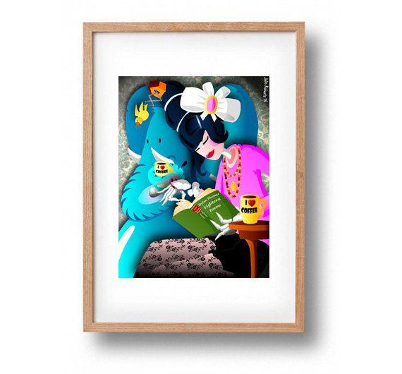DOWNLOAD ISTANTANEO. Poster Gin And Coffee colori di julioroberts