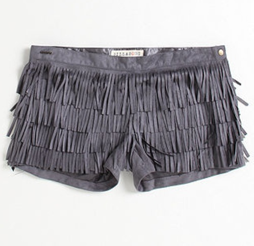 Tasseled Shorts, add a pair of leggins and heels or boots and add a sequin top. :) yes I would