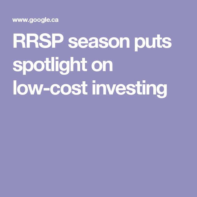 RRSP season puts spotlight on low-cost investing