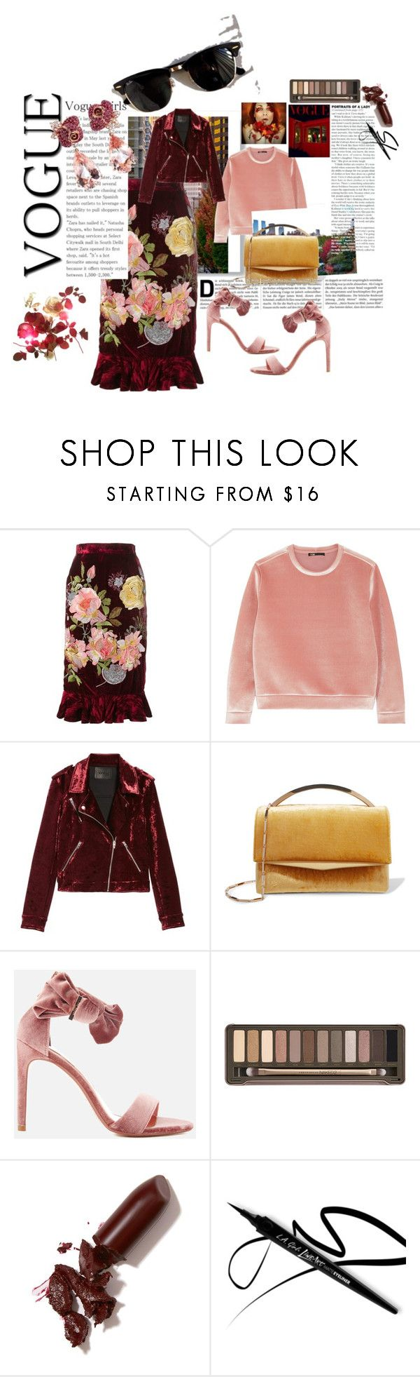 """""""Season of Love."""" by mzill-fashoin29rc ❤ liked on Polyvore featuring Post-It, Alice Archer, Maje, BLANKNYC, Eddie Borgo, Ray-Ban, Ted Baker, Urban Decay, LAQA & Co. and Anyallerie"""