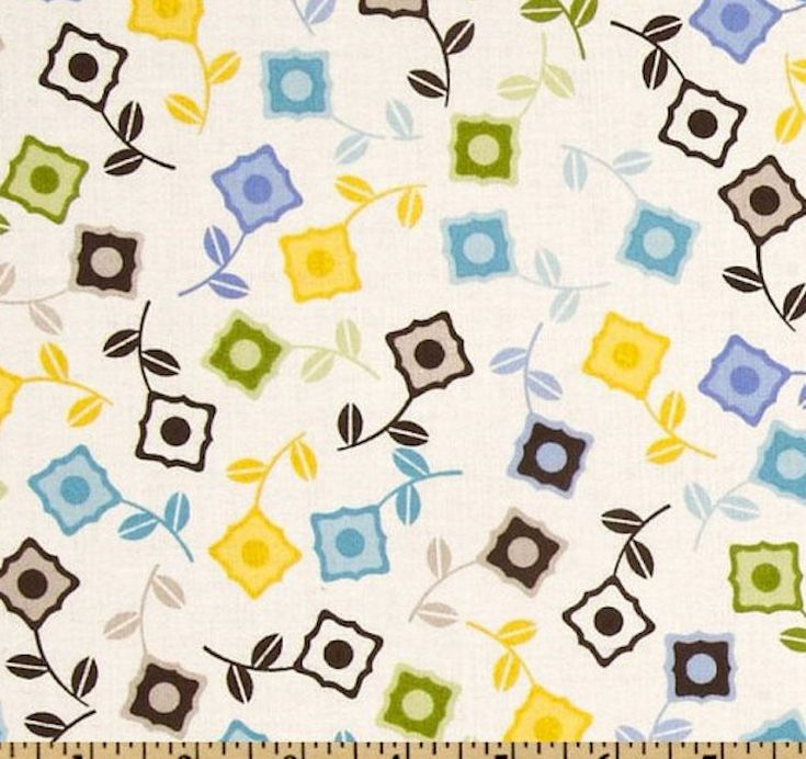 """22"""" Jenean Morrison OOP '11 Power Pop PWJM52 Sweet Cornflower Westminster Fibers FreeSpirit Designer Quilting Sewing Quilt Floral Mod Fabric by KinshipQuilters on Etsy"""