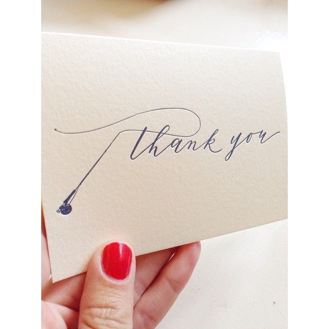 Fly Fishing thank you card by Cast Calligraphy & Design - Bozeman Montana
