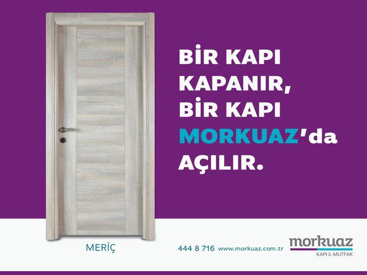 Bir kapı kapanır, bir kapı Morkuaz'da açılır. #morkuaz #hayatabiraz #kapi #mutfak #meriç #kapımodeli #alman #ceviz #almancevizi #çizilmez #solmaz #doğaldoku #door #ev #evim #evimevim #evimşahane #evdekor #dekorasyon #evdetasarım
