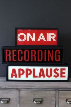 Wall Mounted Light Boxes - On Air/Recording/Applause