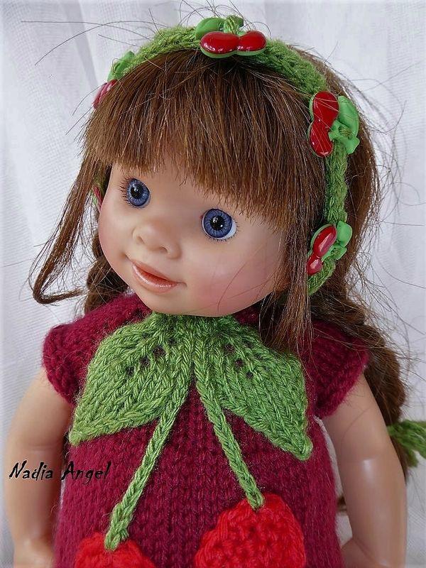 Tuto robe cerise pour poupée Wichtel.
