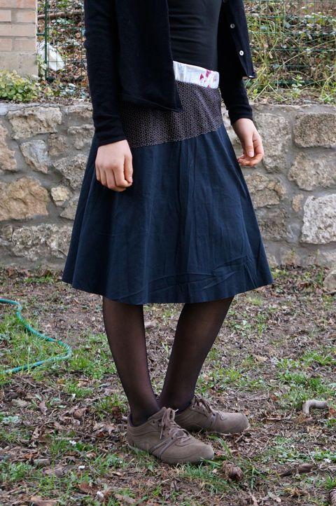 Fekete virágos szoknya, Ruha, divat, cipő, Női ruha, Szoknya, Meska