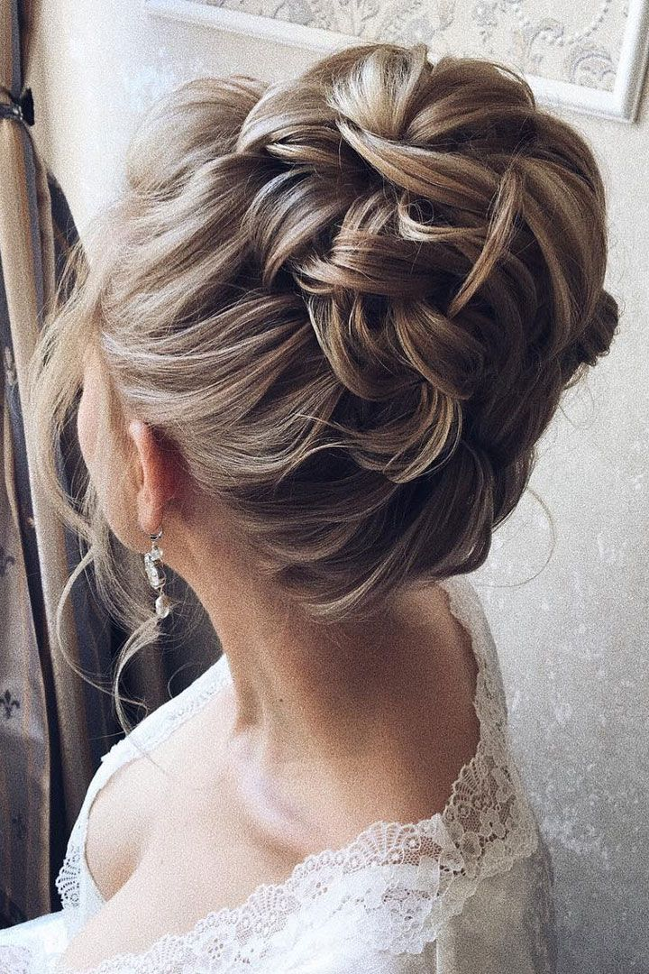 Beautiful updo wedding hairstyle idea
