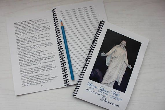 Learn of Me LDS Missionary Scripture Study Journal This is a great gift for any missionary preparing to serve, or any missionary currently serving.  This journal has every reference of Jesus Christ as listed in the scriptures with lines for personal notes.  There is no better way to truly emulate our Savior and be His disciple,