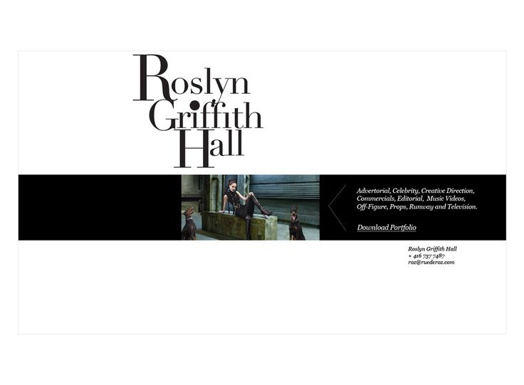 Roslyn Griffith Hall website design by Macroblu.