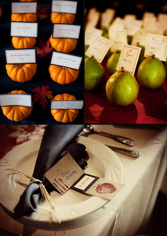 fall wedding place cards table name holderscard