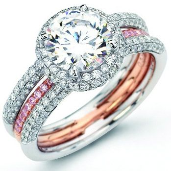 Pink diamonds set in rose gold... yes, please