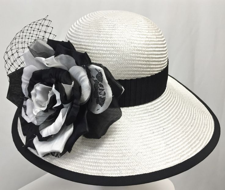 Women's White Cloche Hat, White Straw Summer Hat, Black and White Hat, Kentucky Derby Hat by MakowskyMillinery on Etsy https://www.etsy.com/listing/269033419/womens-white-cloche-hat-white-straw