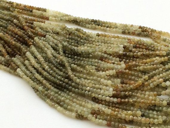 Grossular Garnet Green Garnet Faceted Rondelles by gemsforjewels