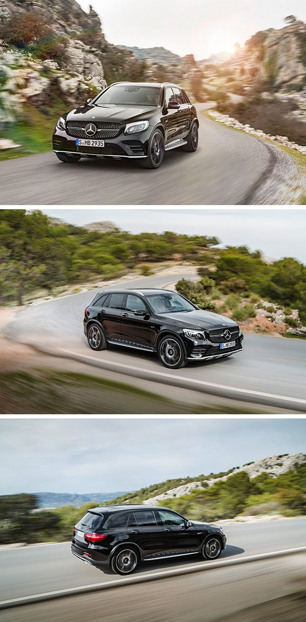 The mid-size SUV model series gains a particularly dynamic addition in the form of the new Mercedes-AMG GLC 43 4MATIC, which celebrates its world premiere at the 2016 New York International Autos Show in New York.  [Mercedes-AMG GLC 43 4MATIC | combined fuel consumption 8.7-8.3 l/100km | combined CO2 emission 199-189 g/km | http://mb4.me/efficiency_statement]