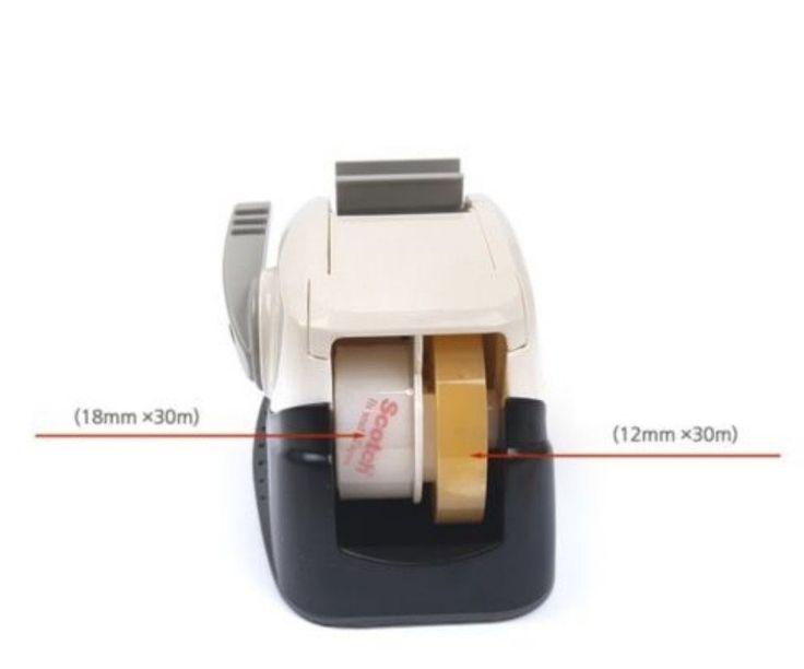 3M Scotch Tape Straight Cutting Dispenser_One Touch (Orange) : Comfortable Tape Dispenser