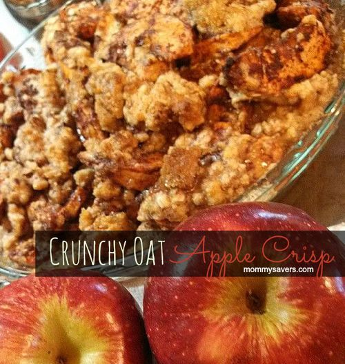 Crunchy Oat Apple Crisp - There are a lot of different ways to make apple crisp.  This crunch topping on this one is out of this world and perfect for serving with ice cream!