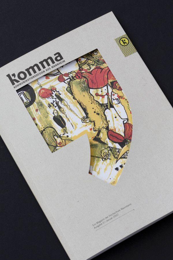 komma Magazin // Editorial Design by Pascal Fedorec, via Behance