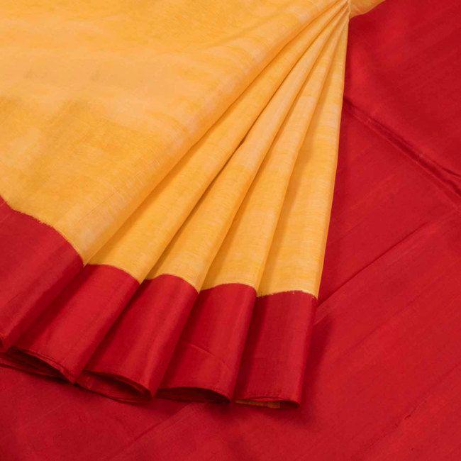 Handwoven Ikat Gadwal Kuttu Silk Saree 10020724 - AVISHYA.COM