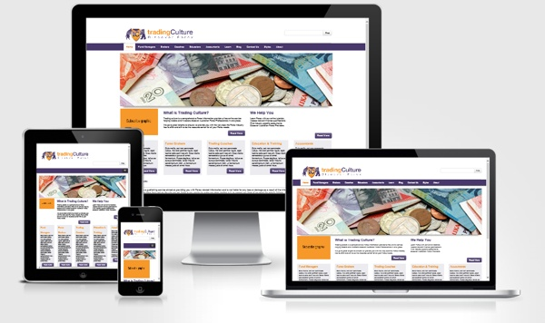 Trading Culture | Corporate ID & Responsive Website by Fernando Pizzani, via Behance