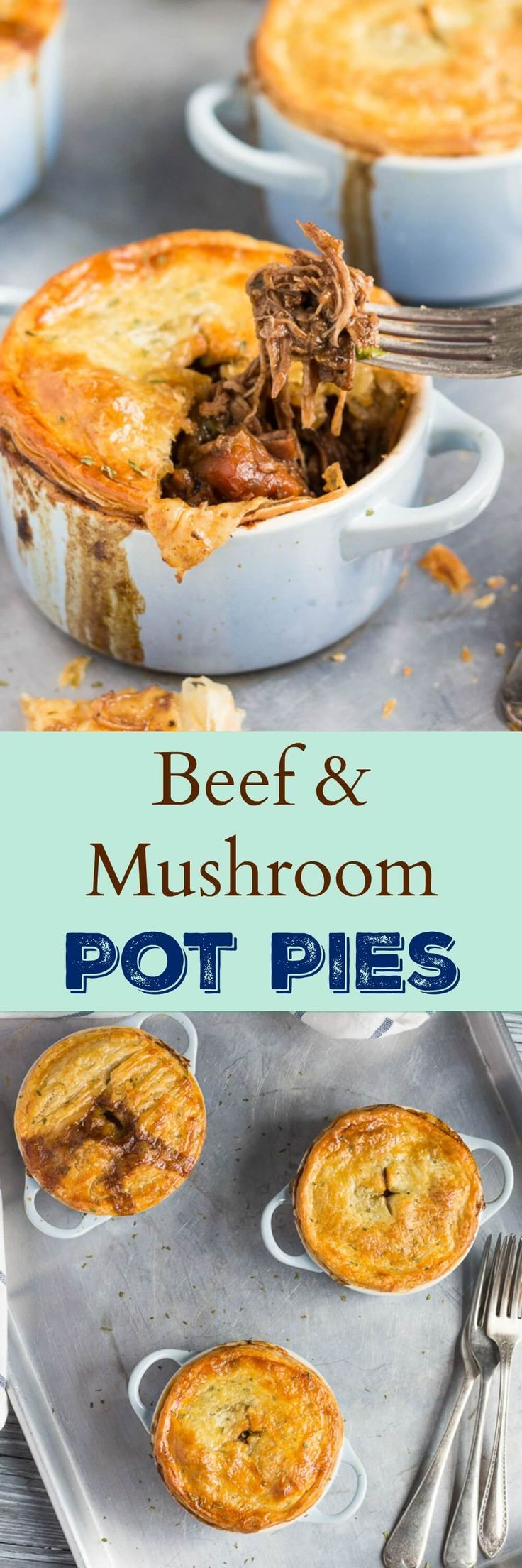 Leftover Beef & Mushroom Stew Pot Pies. Take leftover beef and mushroom stew from the freezer, add a sheet of puff pastry, and put an impressive meal on the table in under an hour.