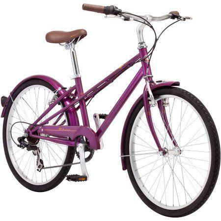 24 inch Girl's Schwinn Mifflin Hybrid Bike, Magenta, Pink