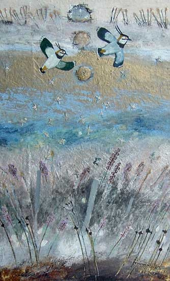 I see lapwings as I drive to work. These are by Ingebjorg Smith.