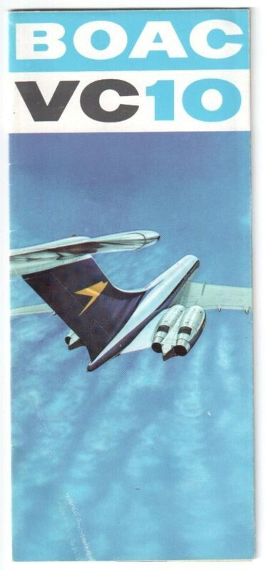 BOAC VICKERS VC10 BROCHURE 1967