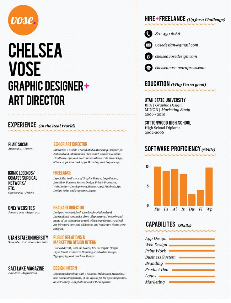 19 best Resumes images on Pinterest Editorial design, Graph design