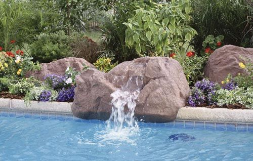 1000 Images About Swimming Cool Pool Rock Waterfall