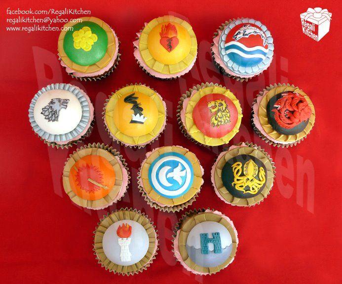 Game of Thrones Cupcakes: Idea, Stealth Thrones, Thrones House, Food, Gameofthrones, Sigil Cupcakes, Game Of Thrones, Stealth House