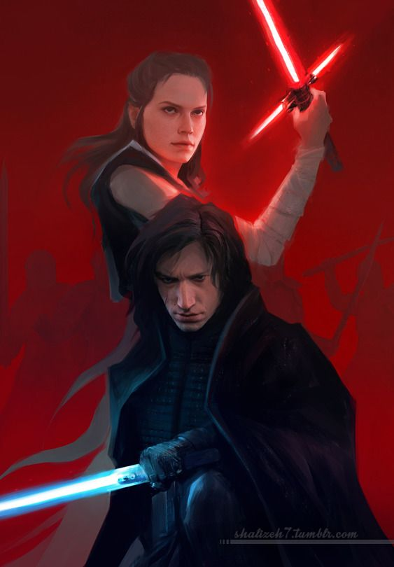 I don't know why but I want Rey to be able to turn Kylo but Kylo simultaneously turns her and they end up on each other's side but not together.