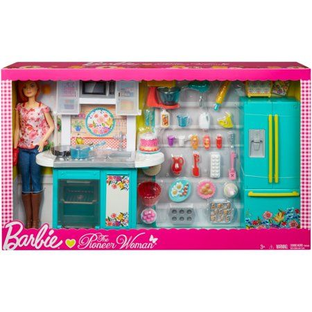 Barbie Pioneer Woman Ree Drummond Kitchen Playset With Cooking Chef Doll Walmart Com Barbie Kitchen Barbie Doll Set Barbie Playsets