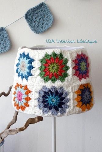 Crochet Lamp traditional lamp shades