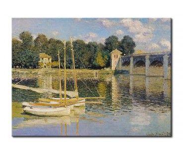 Quadro contemporaneo Il ponte di Argenteuil