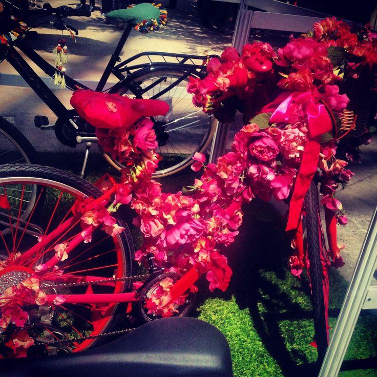 Artistic bike made of roses #PiagetRose
