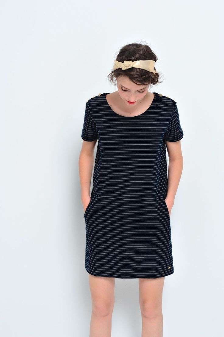 Robe jadantine marine/ecru - robe - des petits hauts 1