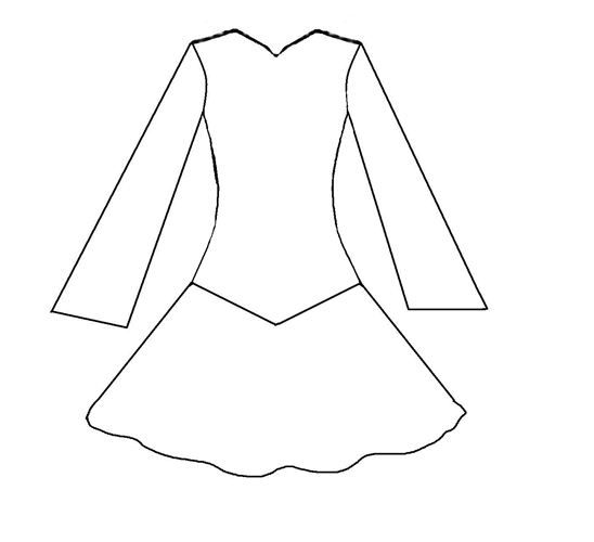 dress templates coloring pages - photo#45