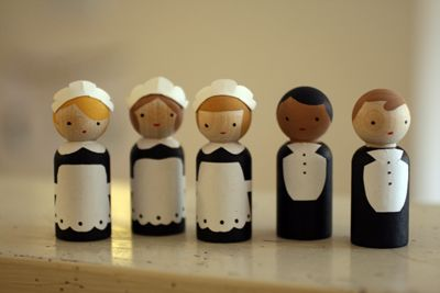 Downton Abbey peg dolls via Angry Chicken