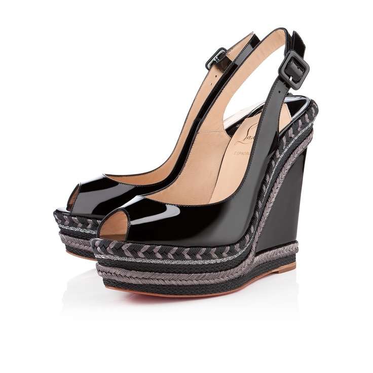 SANTA MARIA PATENT 140 mm, Patent Leather, black, wedges, womens shoes
