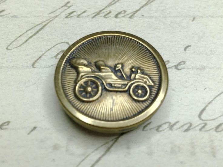 Large Automobile Car Picture Antique Button 23 mm by GwensButtons on Etsy https://www.etsy.com/ca/listing/539720559/large-automobile-car-picture-antique