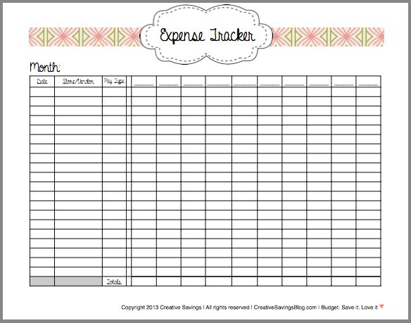 this free printable expense tracker keeps tabs on all your