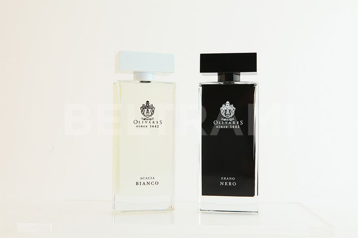 Display fragranze Olivares. Prodotto finito firmato Beltrami.