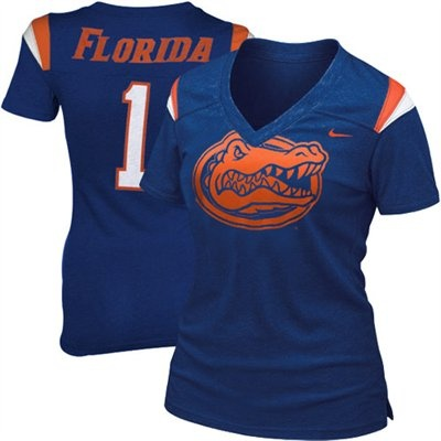 Nike Florida Gators Ladies Royal Blue Replica Football Premium Heathered  T-shirt 5fd0bb5d5c3