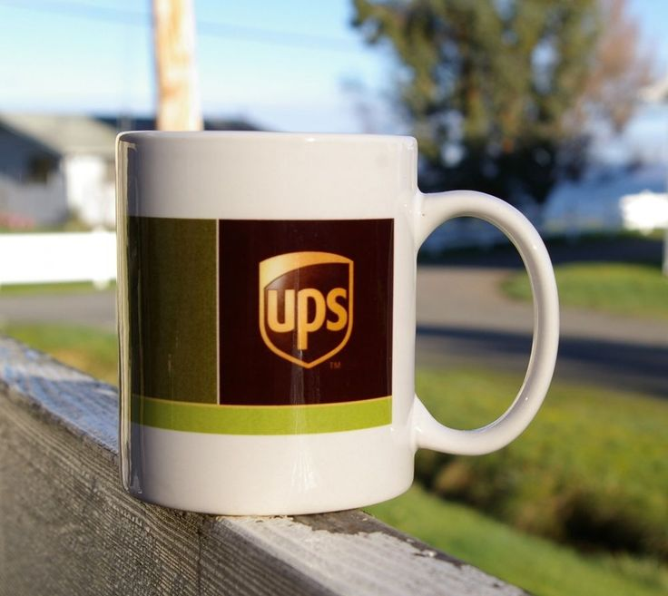 UPS Coffee Mug Cup Brown Green United Parcel Service  | eBay